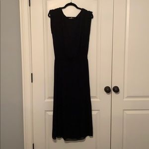Black pleated Anthropologie dress